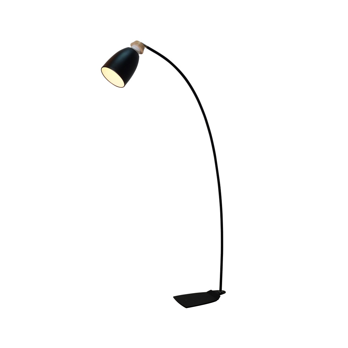 Lightology Black Gracie Stand Lamp