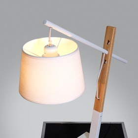 Lightology White Peggy Table Lamp