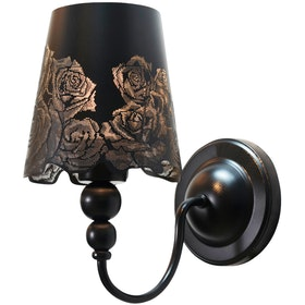 Lightology Fiona Rose Black Wall Lamp