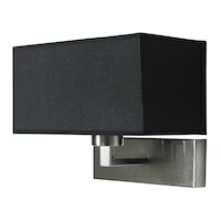 Lightology Black Frank Wall Lamp