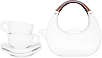 Lumosh White Eclipse Teaset