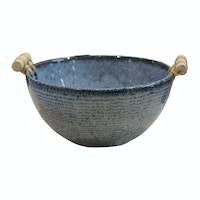 Lumosh Large Korean Wooden Ceramic Bowl Biru