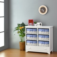 Livien Kabinet Drawer Rattan Series