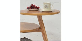 Livien Coffee Table Dokeby Tripod Table Maple