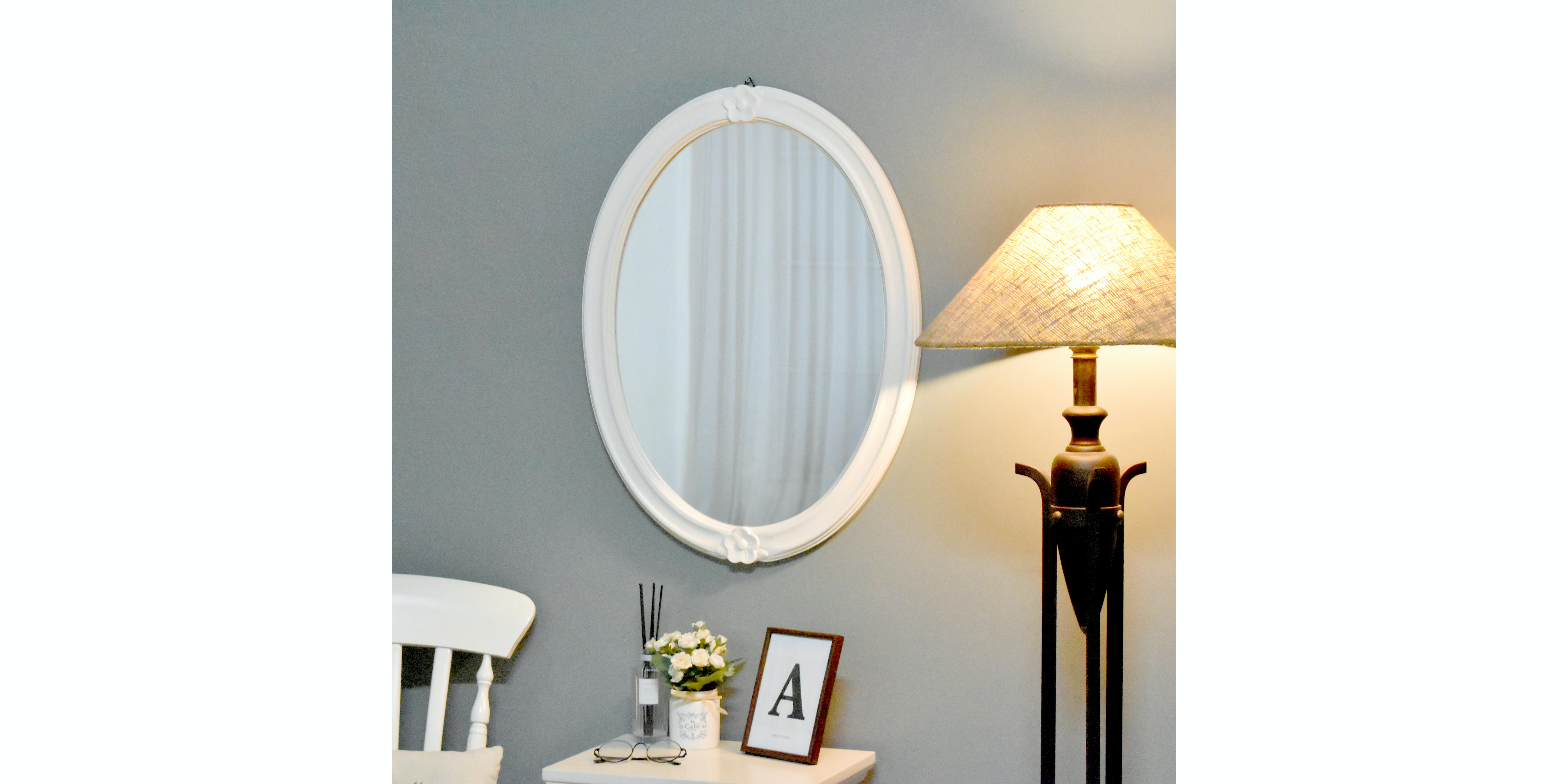 Livien Oval Mirror French Series