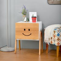 Livien Side Table Pooka White Maple