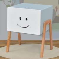 Livien Side Table Pooka White