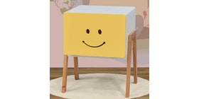 Livien Side Table Pooka White Yellow