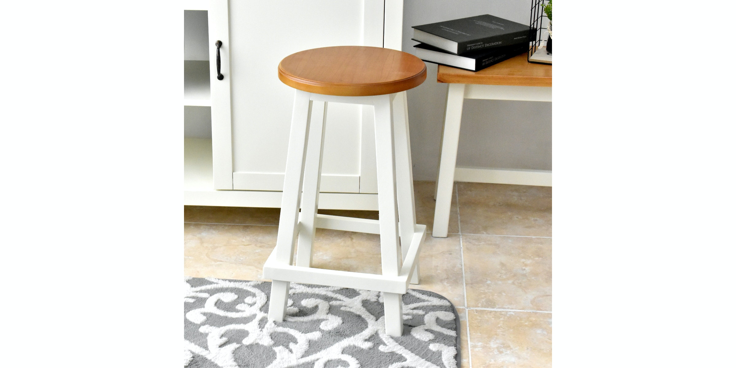 Livien Round Stool Maple Series