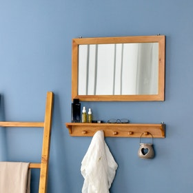 Livien Square Mirror Maple