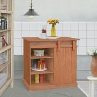 Livien Meja Dapur Celine Side Table Maple