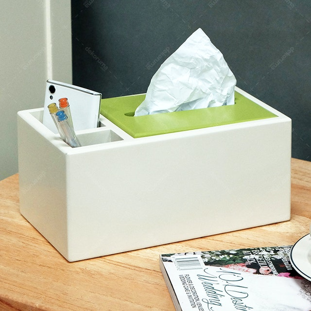 Livien Kotak Tissue Convenience Tissue Box Green