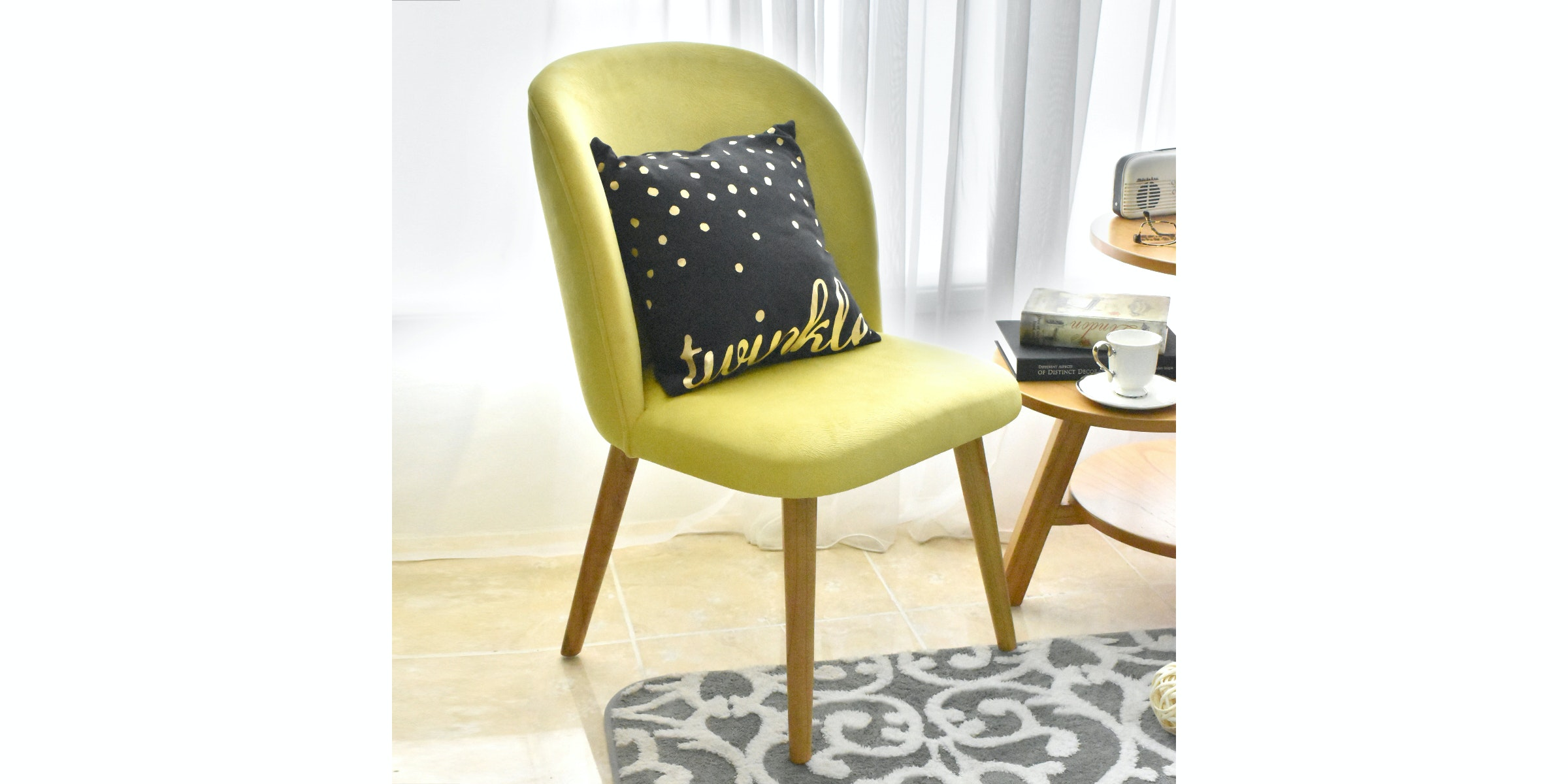 Livien Kursi Sofa Issabel Yellow Chair