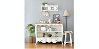 Livien Meja Console Sylvia White Provance Series