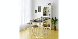 Livien Meja Makan Grace Cabinet French Country