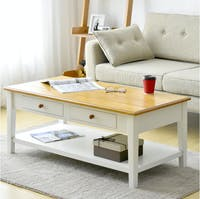 Livien Coffee Table French Country Maple