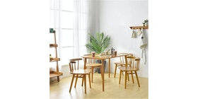 Livien Ribe Dining Table 1200 - 4 Ribe Chair (Tipe 1)