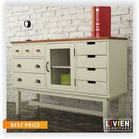 Livien Kabinet Drawer Table Coco Heim Series Ivory