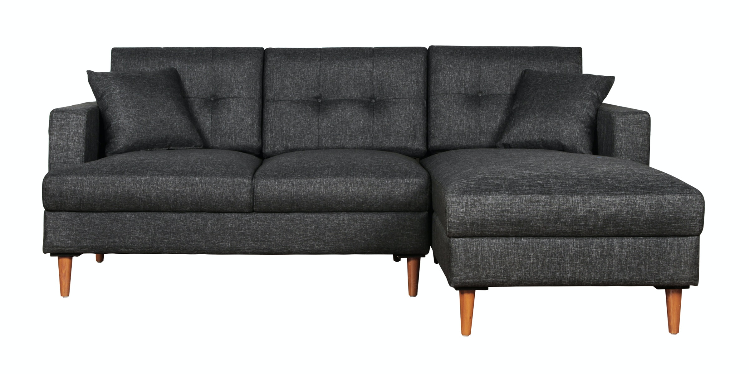 Voda Collection Helena Sofa L Hitam Raven Kiri