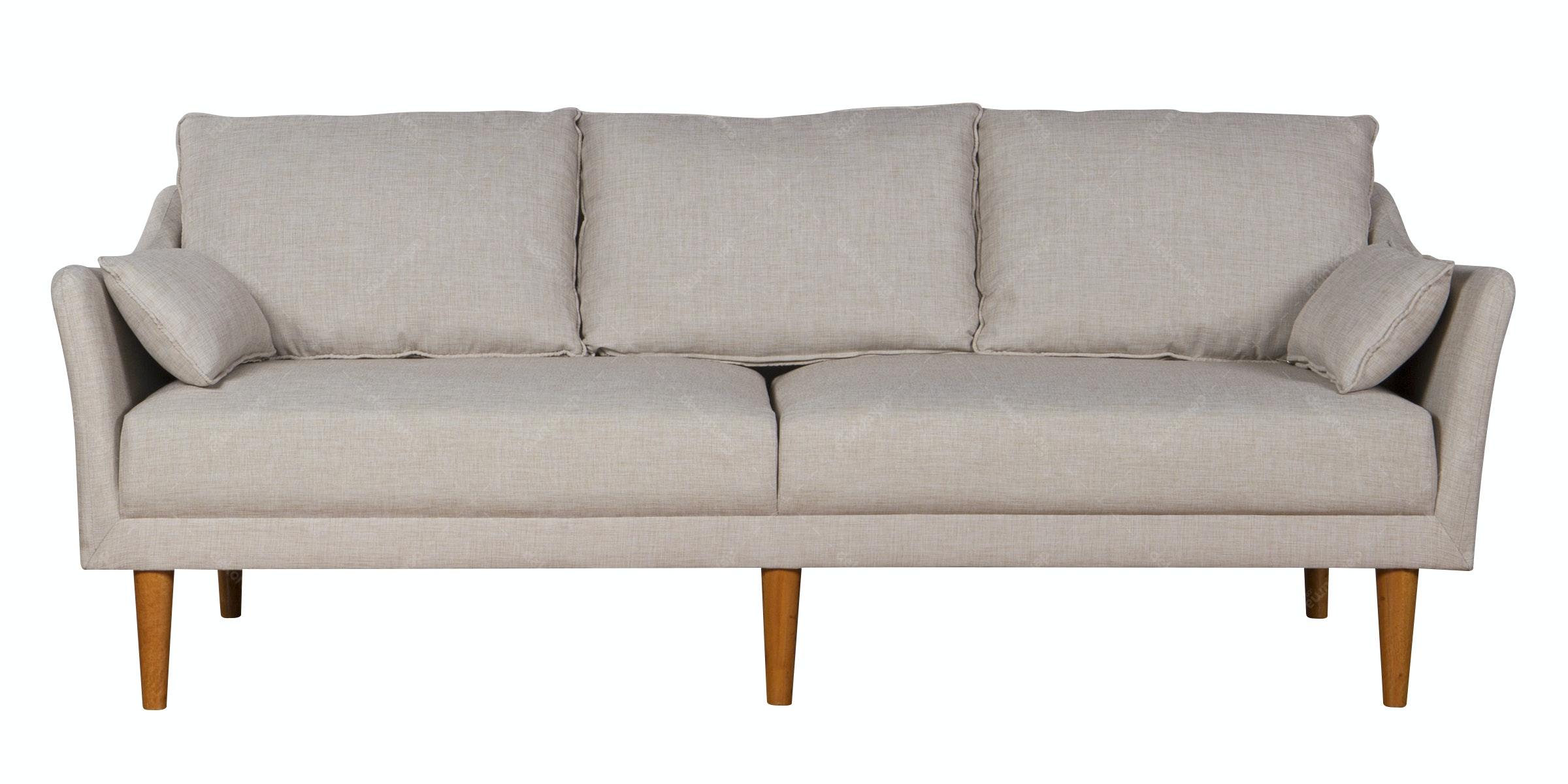 Voda Collection Vita Sofa 3 Dudukan Krem Canvas