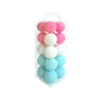 Lightcraft Indonesia Cotton Ball Light Aqua Pink