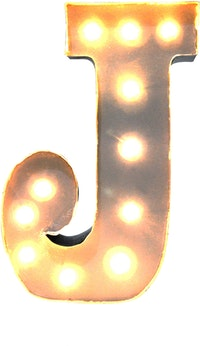 Lightcraft Indonesia Marquee Letter J
