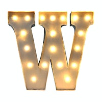 Lightcraft Indonesia Marquee Letter W
