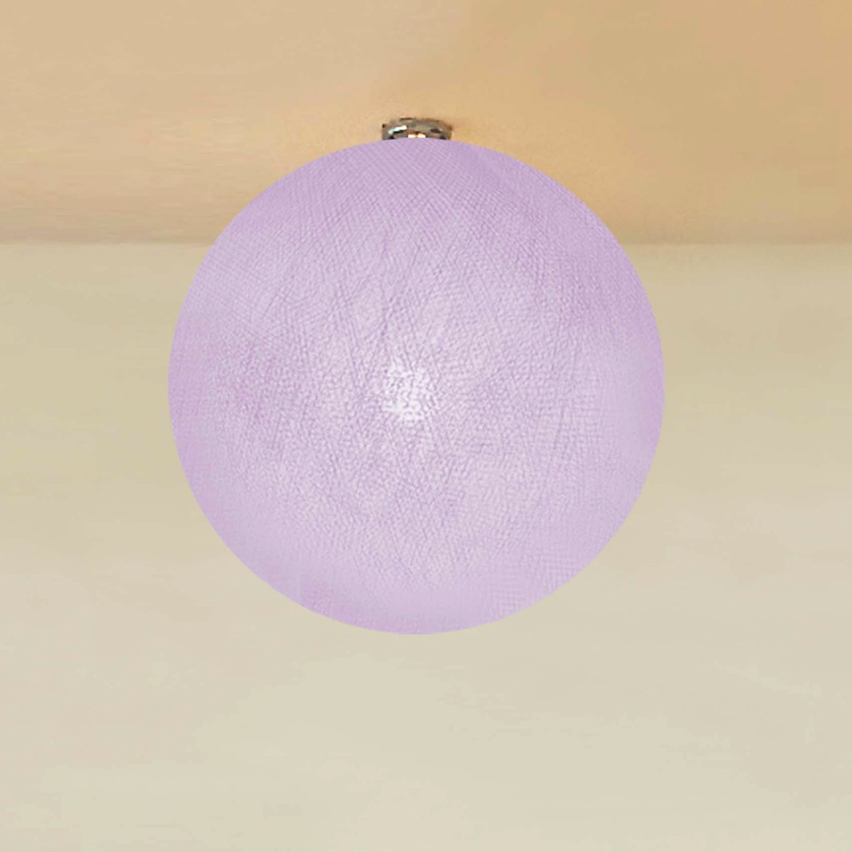 "Lightcraft Indonesia Lampion Big Cotton Ball 10"" Pale Purple"