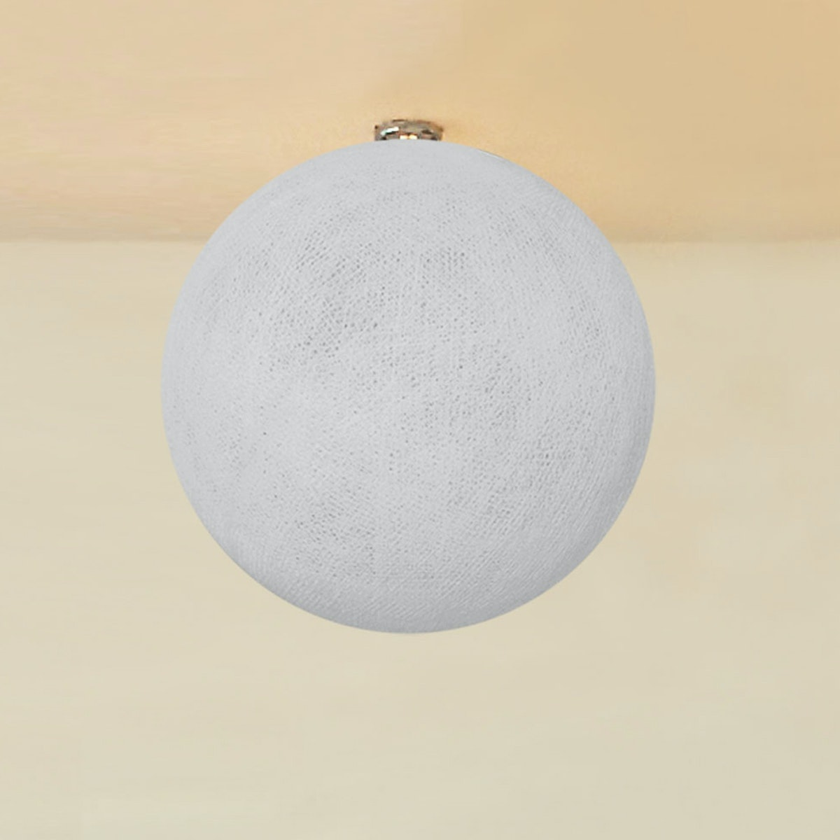 "Lightcraft Indonesia Lampion Big Cotton Ball 10"" Pale Grey"