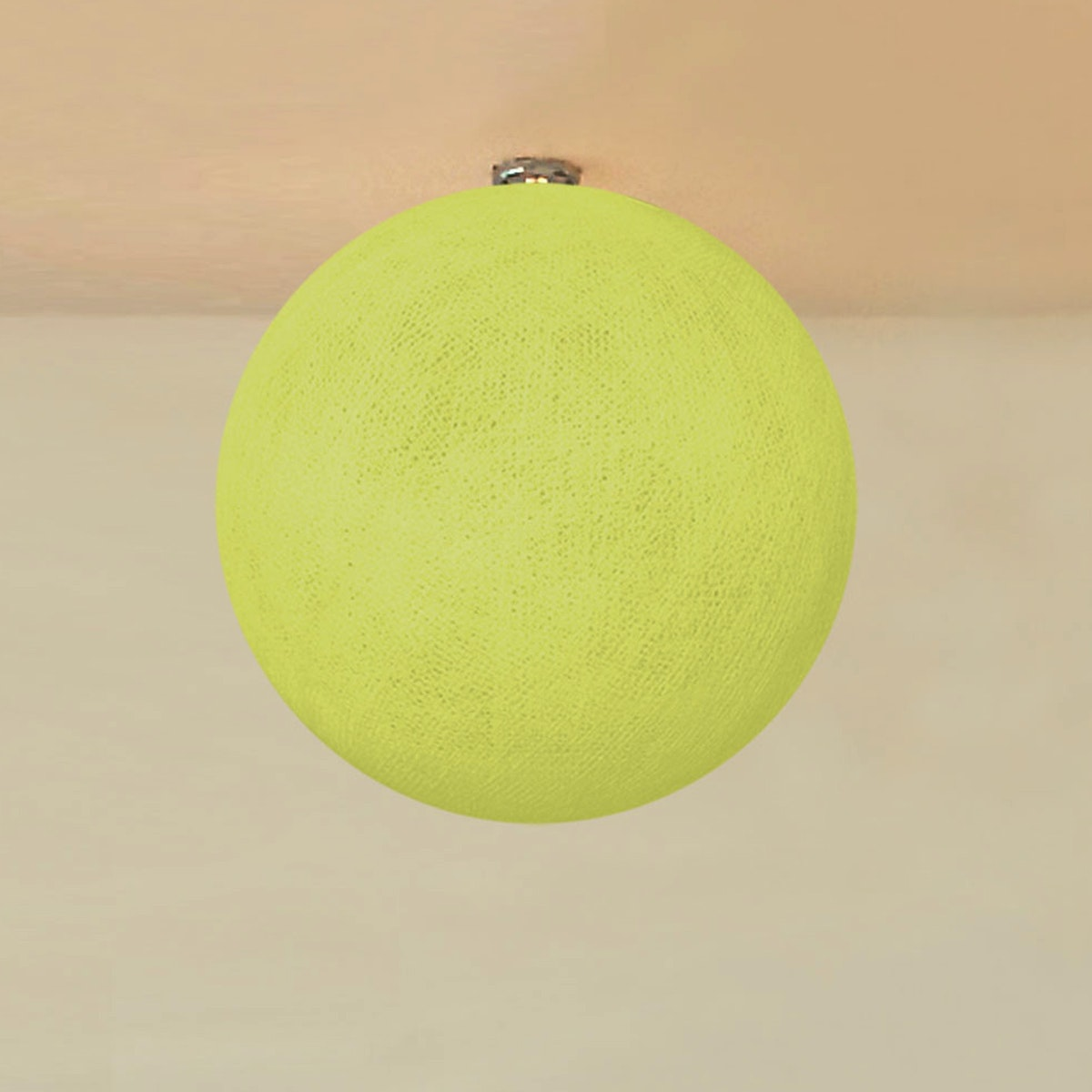 "Lightcraft Indonesia Lampion Big Cotton Ball 10"" Pale Green"