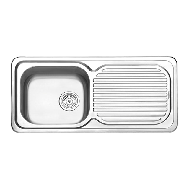 Modena Paket Kitchen Sink 1 Bowl 1 Drainer KS 3101 + Kitchen Tap KT 0530