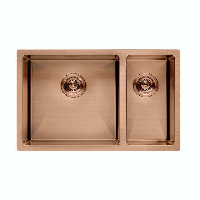 Modena Kitchen Sink 2 Bak Rose Gold Massenza KS 7270 C