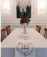 Megallery TABLE RUNNER QUOTES 3