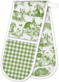 Michel Design Works Double Oven Glove - Bunny Toile