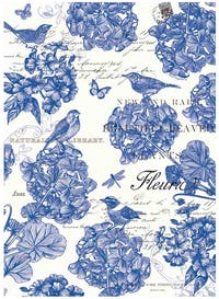 Michel Design Works Handuk Dapur / Kitchen Towel - Indigo Cotton