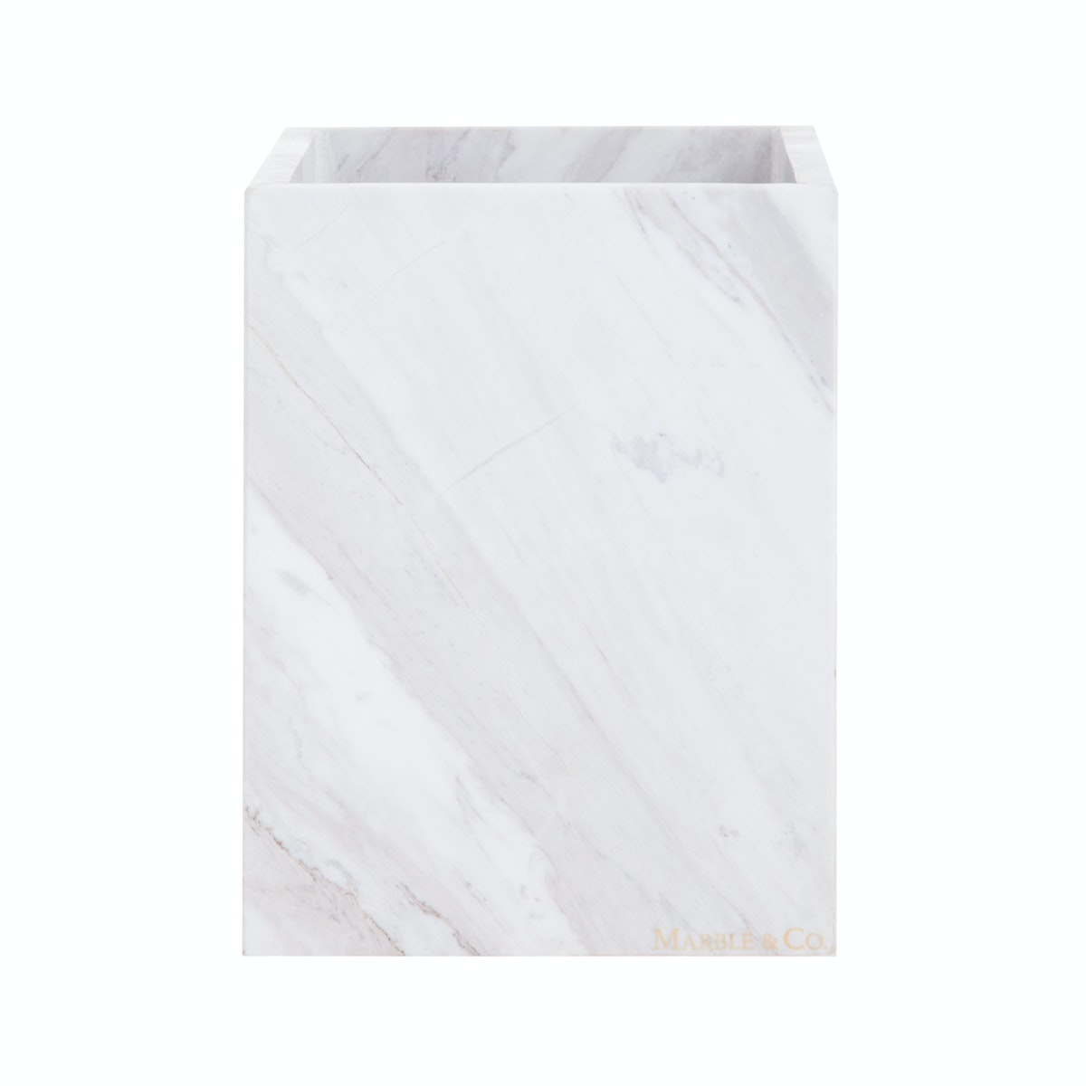 Marble & Co Aperto Marble Box (Large) Putih