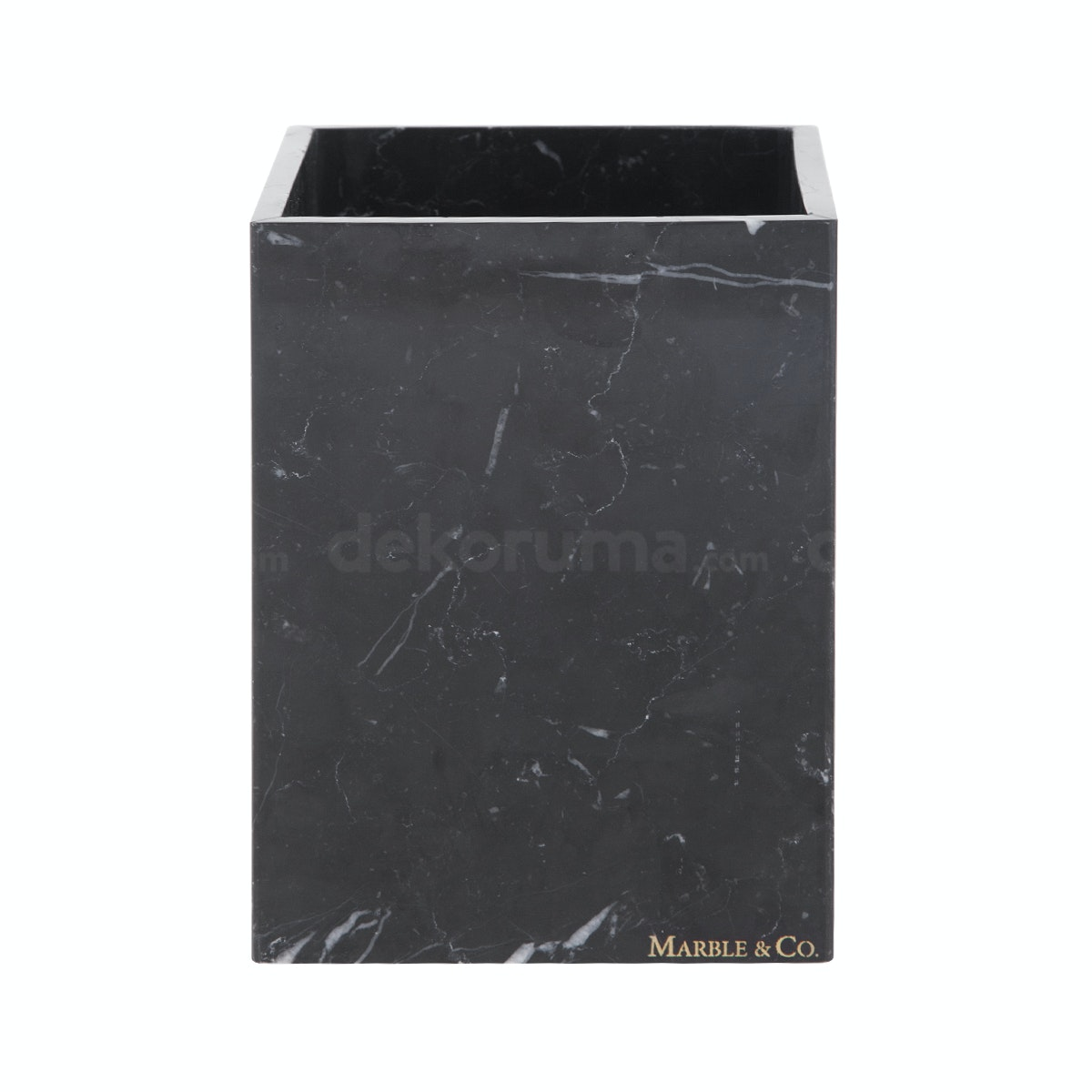 Marble & Co Aperto Marble Box (Large) Hitam