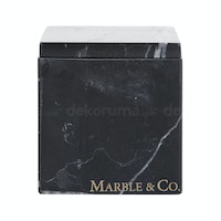 Marble & Co Coperchio Marble Box/Cotton pad Box Hitam
