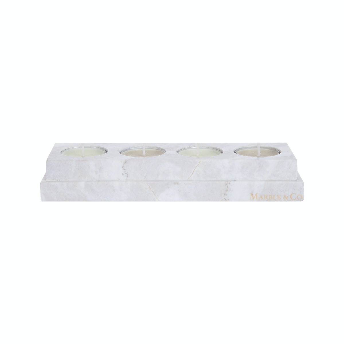 Marble & Co Candle Holder Marble Putih