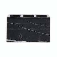 Marble & Co Marble Brush Holder Hitam