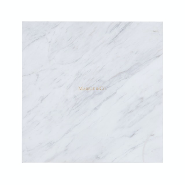 Marble & Co Piazza Coaster Marble/Square Tray Marble Putih