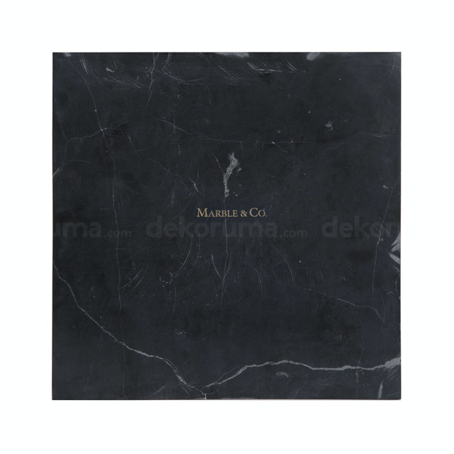 Marble & Co Piazza Coaster Marble/Square Tray Marble Hitam