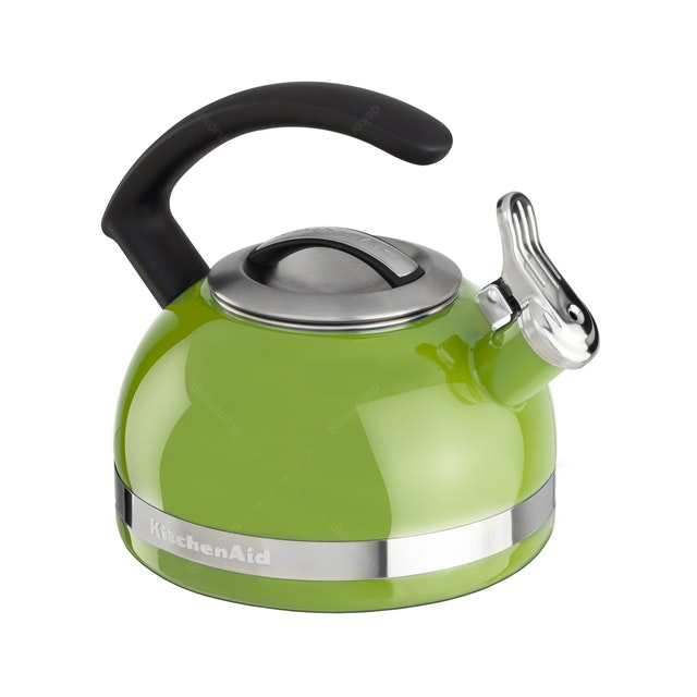 KitchenAid Porcelain Enamel Kettles (C Handle with Trim Band) (Sunkissed Lime)
