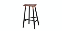 Malik Art Baccarat Bar Stool Hitam