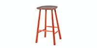 Malik Art Baccarat Bar Stool Oranye