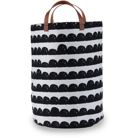 Myka_kids Black Scallop Storage Bin