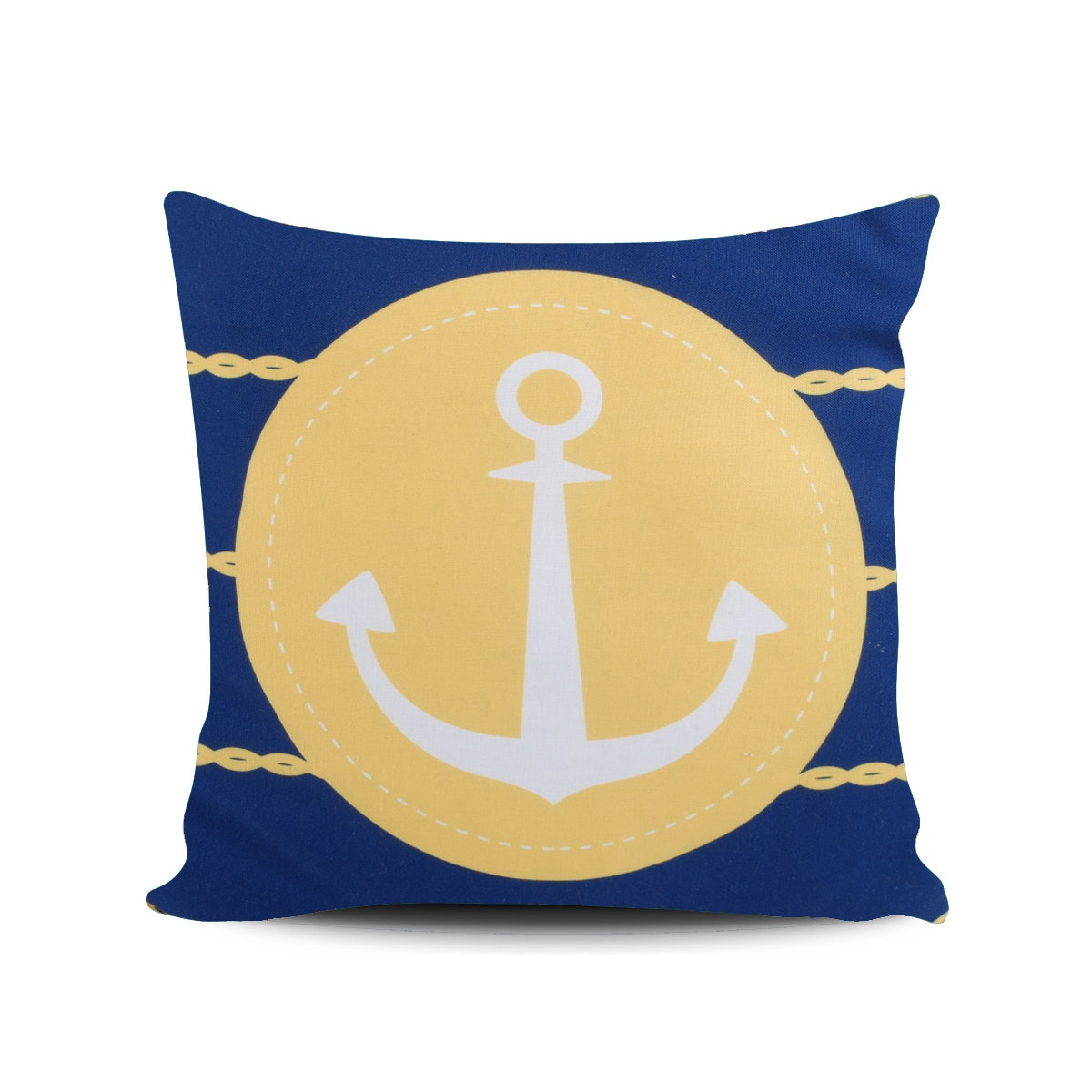 Myka_kids Navy Anchor Cushion 40x40
