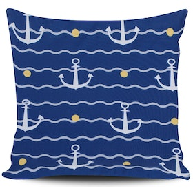 Myka_kids Small Anchor Navy Cushion 40x40