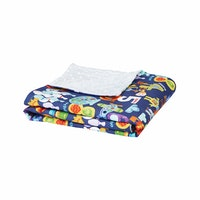 Myka_kids Blue Alphabets Baby Blanket