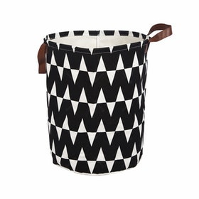 Myka_kids Storage Bin Black Zig Zag
